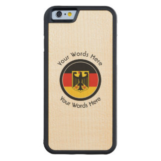 Round German with Eagle Custom Carved Maple iPhone 6 Bumper Case