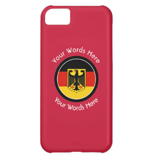 Round German with Eagle Custom Case For iPhone 5C