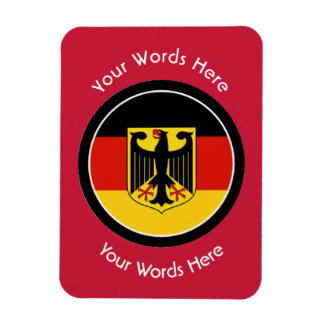 Round German with Eagle Custom Magnet