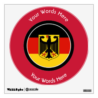 Round German with Eagle Custom Wall Sticker