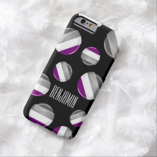 Round Glossy Asexual Pride Flag Barely There iPhone 6 Case