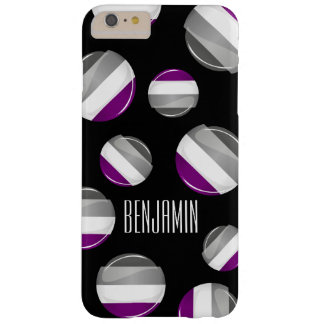Round Glossy Asexual Pride Flag Barely There iPhone 6 Plus Case