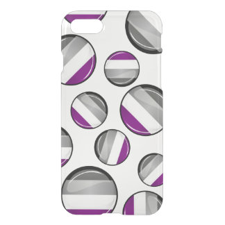 Round Glossy Asexual Pride Flag iPhone 8/7 Case