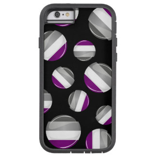 Round Glossy Asexual Pride Flag Tough Xtreme iPhone 6 Case