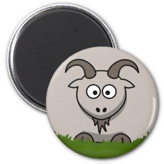 Round Goat 2 Inch Round Magnet