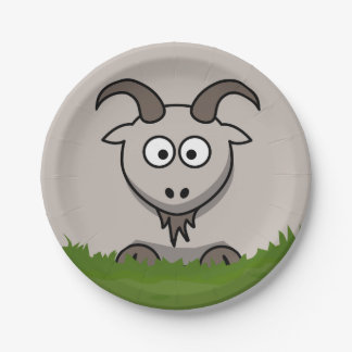 Round Goat Paper Plate