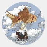 Round Goldfish Sticker