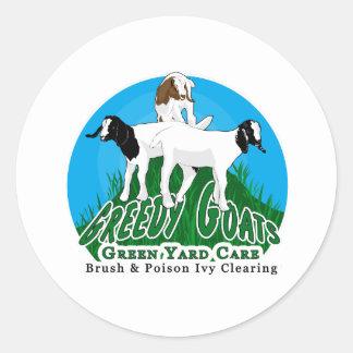 Round Greedy Goats Logo Sticker