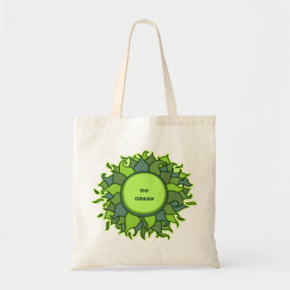 Round green floral bag