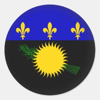 Round Guadeloupe Classic Round Sticker