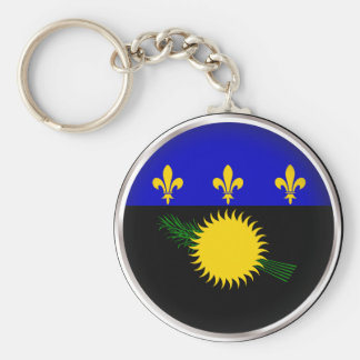 Round Guadeloupe Keychains