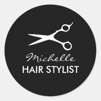 Round hairdresser stickers for hair stylist round sticker