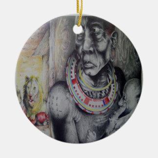 Round Hakuna Matata Masai Ornament