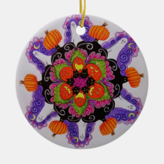 Round Halloween Ornament with 2 different designs