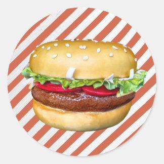 Round Hamburger Cake Classic Round Sticker
