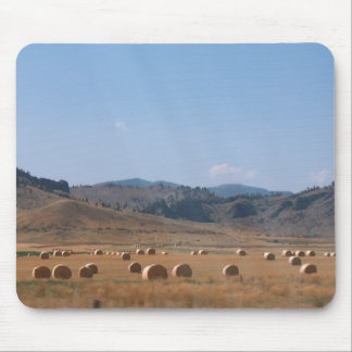 ROUND HAY BALES by SHARON SHARPE Mouse Pad