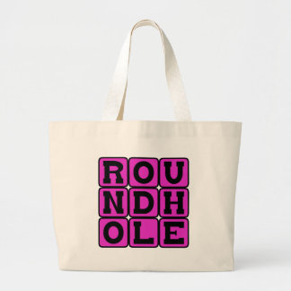 Round Hole, Square Peg Canvas Bags