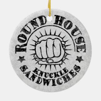 Round House Sandwiches Ceramic Ornament