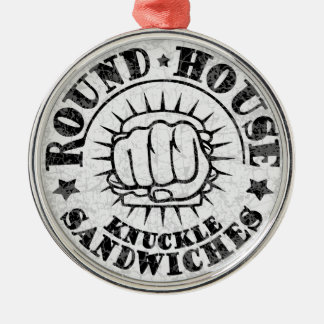 Round House Sandwiches Metal Ornament