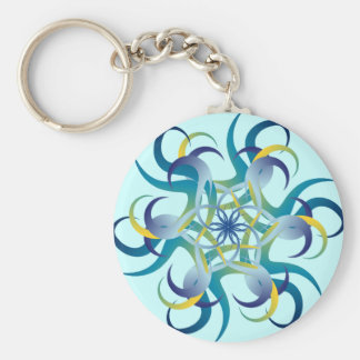 Round in a Blue Circle Keychain
