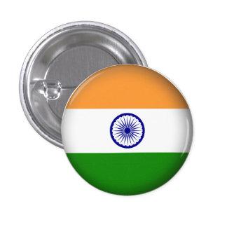 Round India Pinback Button