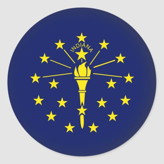 Round Indiana Classic Round Sticker