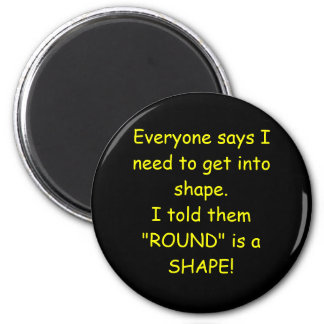 """""""ROUND"""" is a shape items 2 Inch Round Magnet"""