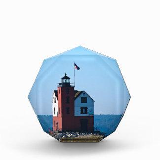 Round Island Lighthouse Acrylic Award