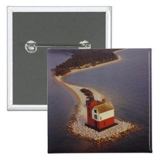 Round Island Lighthouse Pinback Button
