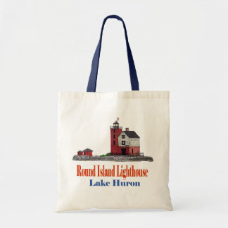 Round Island Lighthouse Canvas Bags