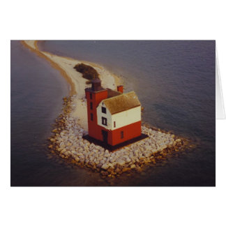Round Island Lighthouse Card