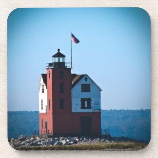 Round Island Lighthouse Coasters