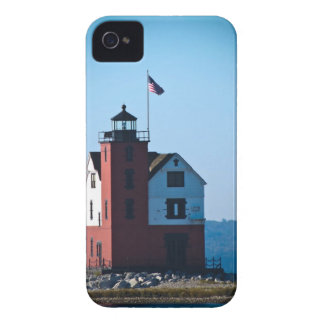 Round Island Lighthouse iPhone 4 Case-Mate Case