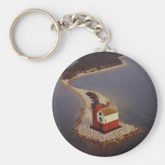 Round Island Lighthouse Key Chain