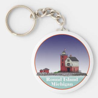 Round Island Lighthouse Keychain