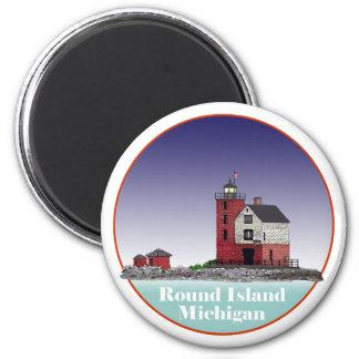 Round Island Lighthouse Refrigerator Magnets