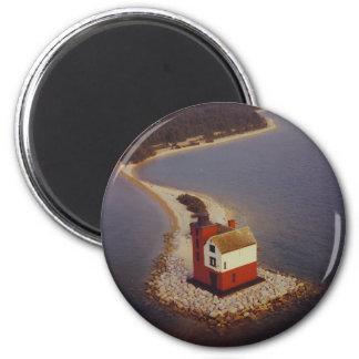 Round Island Lighthouse Fridge Magnet