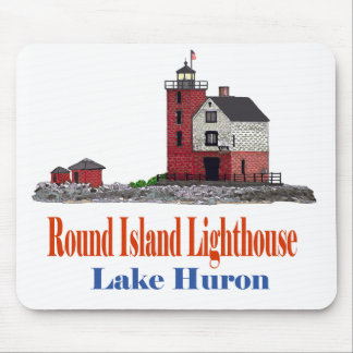 Round Island Lighthouse Mouse Pad