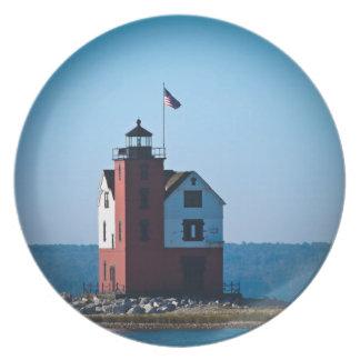 Round Island Lighthouse Plate
