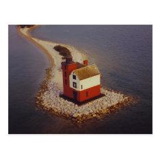 Round Island Lighthouse Postcard at Zazzle