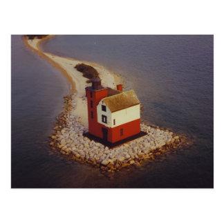 Round Island Lighthouse Post Card