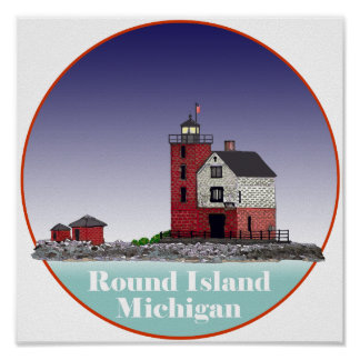 Round Island Lighthouse Posters