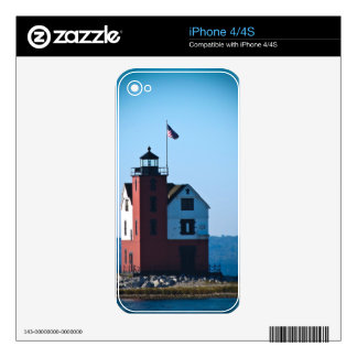 Round Island Lighthouse Skins For The iPhone 4
