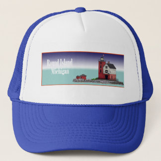 Round Island Lighthouse Trucker Hat