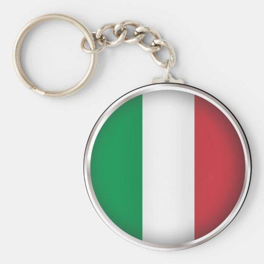 Round Italy Keychain