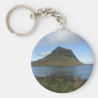Round Key Ring With Distant Hill Picture