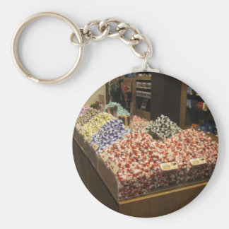 Round Key Ring With Lindt Chocolates Picture Keychain