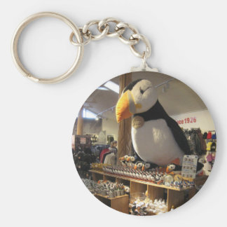 Round Key Ring With Puffin Picture