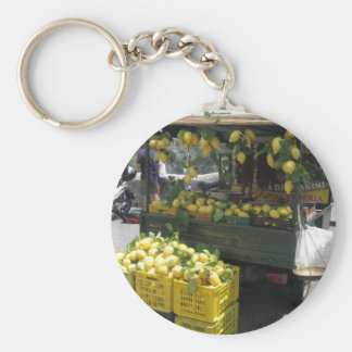 Round Key Ring With Sorrento Lemons Picture