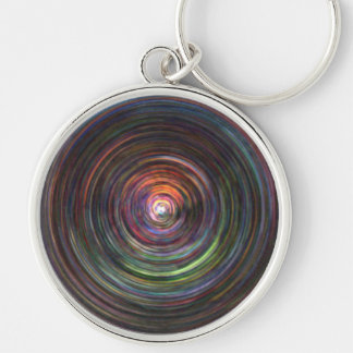 "ROUND KEYCHAIN FEATURING ""HYPNOTIC"" VORTEX OF COLO"